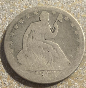 1854 O SEATED LIBERTY HALF DOLLAR IN FAIR TO GOOD CONDITION M861