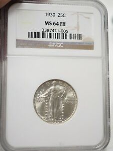 1930 STANDING LIBERTY QUARTER NGC MS64 FH  FULL HEAD   1005