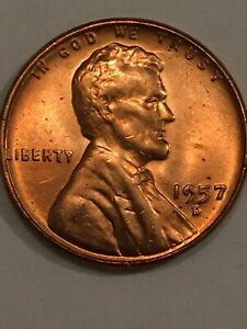 1957 D WHEAT PENNY DIE ERROR FILLED 9 SOME DOUBLING ON DATE