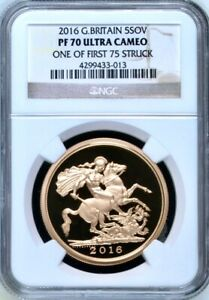 Click now to see the BUY IT NOW Price! 2016 GOLD PROOF FIVE POUNDS  5 COIN / 5 SOVEREIGN  NGC PF70 UCAM FIRST STRIKE