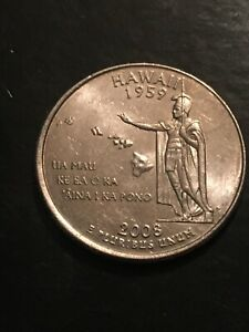 2008 P HAWAII 50 STATES QUARTER  BUY 4 GET 20  OFF  723