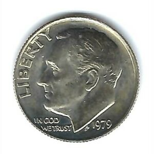1975 BRILLIANT UNCIRCULATED DENVER AND CIRCULATED PHILADELPHIA ROOSEVELT DIMES
