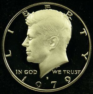 1979 S TYPE 1 FILLED S DEEP CAMEO PROOF KENNEDY HALF DOLLAR  C01