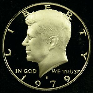 1979 S TYPE 1 FILLED S DEEP CAMEO PROOF KENNEDY HALF DOLLAR  C03