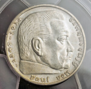 Click now to see the BUY IT NOW Price! 1937 E GERMANY  3RD REICH . SILVER 2 MARK COIN. SEMI KEY DATE  PCGS MS 63