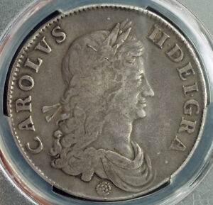 Click now to see the BUY IT NOW Price! 1662 GREAT BRITAIN CHARLES II. BEAUTIFUL LARGE SILVER CROWN COIN. PCGS VF 35