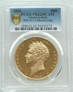 Click now to see the BUY IT NOW Price! 1826 GEORGE IV CORONATION 5 FIVE POUND SOVEREIGN GOLD PROOF COIN PCGS PR62 DCAM