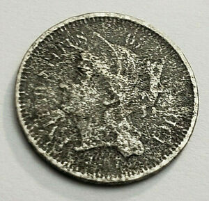 1867 THREE  3  CENT NICKEL   GOOD DETAILS
