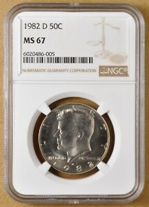 Click now to see the BUY IT NOW Price! 1982 D KENNEDY HALF DOLLAR NGC MS67