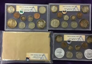 Click now to see the BUY IT NOW Price! 1947 PDS  BOARDS DOUBLE MINT SET OSV/ANACS GRD  P MS65.85 D MS65.63 S MS65.77