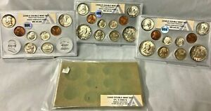 Click now to see the BUY IT NOW Price! 1948 PDS DOUBLE MINT SET OSV ANACS COMPOSITE GRADE P MS65.53 D MS64.93 S MS65.85