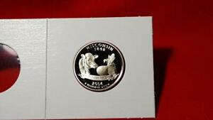2004 S WISCONSIN STATE QUARTER     ULTRA DEEP CAMEO PROOF MUST SEE PICS