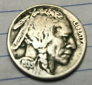 1935 S  BUFFALO NICKEL WITH FULL READABLE DATE