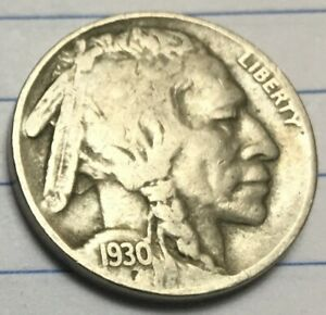1930 S BUFFALO NICKEL WITH FULL READABLE DATE SEE PHOTOS