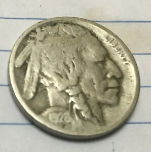 1928 D BUFFALO NICKEL WITH FULL READABLE DATE. LAST ONE