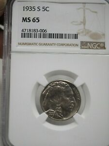 1935 S BUFFALO NICKEL NGC MS65  3006