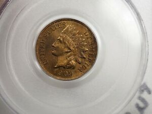 1909 S 1C INDIAN CENT PCGS MS66RB CAC  1859