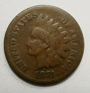1874 INDIAN HEAD PENNY 66