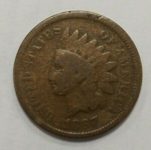 1867 INDIAN HEAD PENNY 1C 76