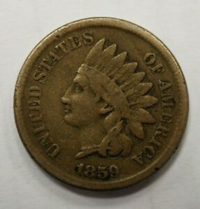 1859 INDIAN HEAD ONE CENT 1C 91