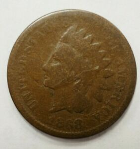 1868 INDIAN HEAD ONE CENT 1C 106