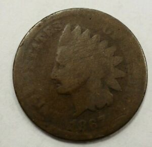 1867 INDIAN HEAD ONE CENT 1C 82