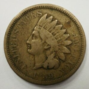 1859 INDIAN HEAD ONE CENT 1C 93