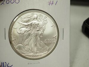 BU 2000 SILVER EAGLE  FRESH FROM ROLL
