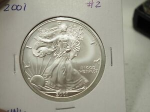 2001 AMERICAN SILVER EAGLE   BRILLIANT UNCIRCULATED