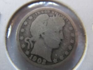 1902 PHILADELPHIA MINT SILVER BARBER QUARTER GOOD