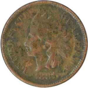 1881 1C INDIAN HEAD CENT PENNY RAW CIRCULATED COIN ALBUM FILLER