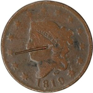 1819 1C LARGE COPPER CORONET CENT PENNY RAW CIRCULATED COIN ALBUM FILLER