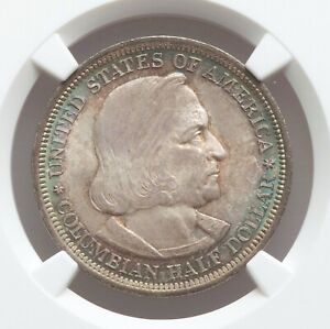 Click now to see the BUY IT NOW Price! 1893 NGC MS67 EDGE TONED COLUMBIAN EXPO COMMEMORATIVE SILVER HALF DOLLAR GEM