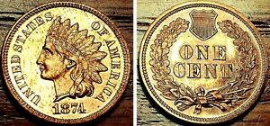 1874 1C PROOF INDIAN HEAD CENT