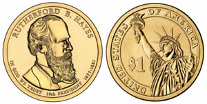 RUTHERFORD HAYES PRESIDENT DOLLAR COIN