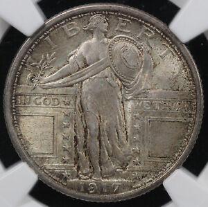 1917 25C TYPE 1 STANDING LIBERTY QUARTER NGC MS 64 FH