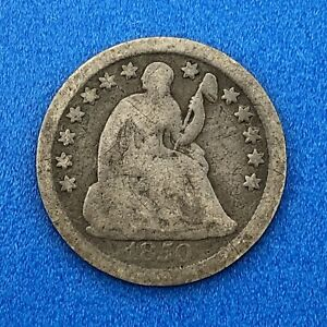 1850 O SEATED LIBERTY HALF DIME VARIETY 2 OBVERSE STARS BETTER NEW ORLEANS MINT