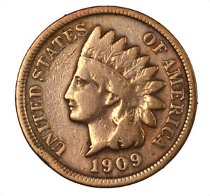 1909 S INDIAN HEAD CENT BETTER DATE 1C   CLEANED