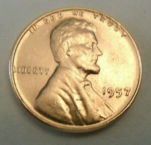 1957 P LINCOLN WHEAT CENT / PENNY COIN