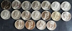 1971   2020  LOT OF 18  KENNEDY SILVER HALF DOLLARS ASSORTED YEARS
