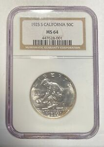 1925 S CLASSIC COMMEMORATIVE CALIFORNIA DIAMOND JUBILEE NGC CALIFORNIA