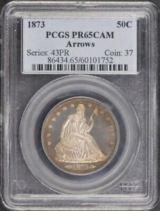 Click now to see the BUY IT NOW Price! 1873 50C ARROWS LIBERTY SEATED HALF DOLLAR PCGS PR65CAM