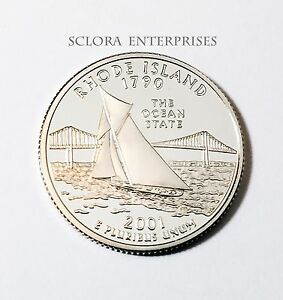 2001 S RHODE ISLAND  CLAD PROOF  STATE QUARTER