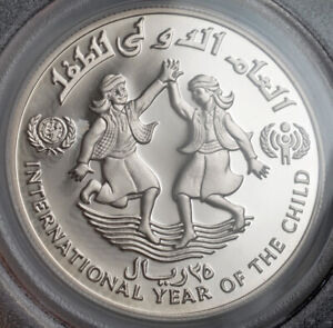 Click now to see the BUY IT NOW Price! 1983 YEMEN  ARAB REPUBLIC . PROOF PIEFORT SILVER 25 RIYALS COIN. PCGS PR 67