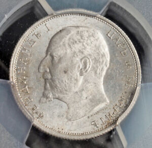 Click now to see the BUY IT NOW Price! 1912 KINGDOM OF BULGARIA FERDINAND I. SILVER 50 STOTINKI COIN. PCGS MS 63
