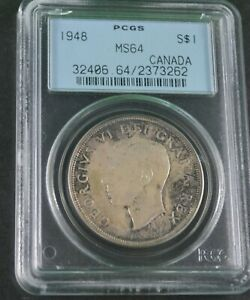 Click now to see the BUY IT NOW Price! 1948 CANADIAN  SILVER DOLLAR