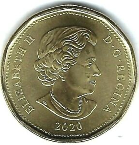 2020 CANADIAN BRILLIANT UNCIRCULATED BUSINESS STRIKE ISSUE $1 COIN