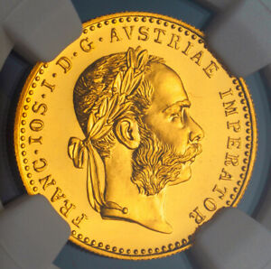 Click now to see the BUY IT NOW Price! 1915 AUSTRIA  EMPIRE  FRANCIS JOSEPH I. GOLD DUCAT COIN. RE STRIKE  NGC MS 68