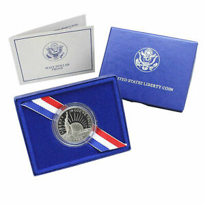 1986 S STATUE OF LIBERTY CENTENNIAL PROOF IN BOX COMMEM HALF DOLLAR US COIN