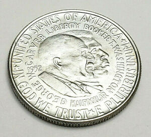1952 P WASHINGTON   CARVER COMMEMORATIVE HALF    90  SILVER